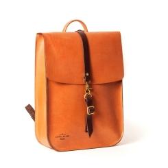 Стильный кожаный рюкзак большого размера, под документы и небольшой ноутбук от Long River, арт. BR-030