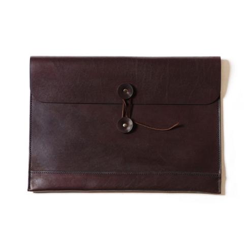 Коричневая мужская кожаная папка для документов формата А4 и ноутбука 13.3 от Long River, арт. FP-010