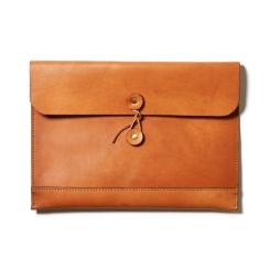 Светло коричневая кожаная папка для документов А4 и ноутбука 13.3 от Long River, арт. FP-030