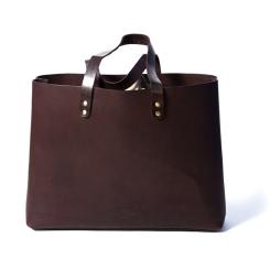 Большая женская сумка шоппер из натуральной кожи коричневого цвета от Long River, арт. SD-010