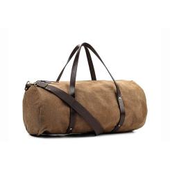 Мужская дорожная сумка из натуральной кожи и канваса коричневого цвета от Long River, арт. NK-010
