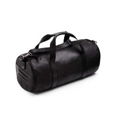 Мужская дорожная сумка из черной натуральной кожи для путешествий и фитнеса от Long River, арт. DF-020