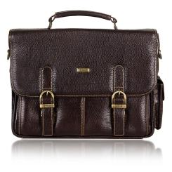 Маленький мужской кожаный портфель в стиле ретро коричневого цвета от Merkur, арт. 00061820