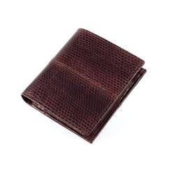 Модное портмоне молодежного типа из темно-коричневой кожи морской змеи от Quarro, арт. WN-128