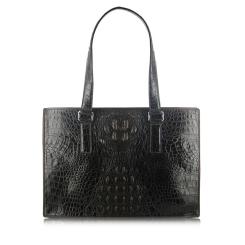Черная сумка из экзотической кожи крокодила для женщин от Quarro, арт. BR-025