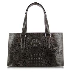 Удобная расширенная женская сумка из элитной кожи крокодила от Quarro, арт. BR-027