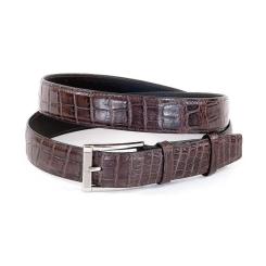 Безупречный кожаный ремень из дорогой экзотической кожи крокодила от Quarro, арт. ER-045