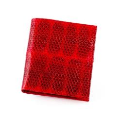 Интересный женский кошелек из красной натуральной кожи морской змеи от Quarro, арт. WN-127
