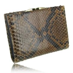 Удобный женский кошелек цвета карамели из экзотической кожи питона от Quarro, арт. WP-124