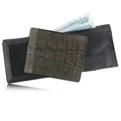 Стильное мужское портмоне из уникальной кожи каймана от Quarro, арт. WR-108