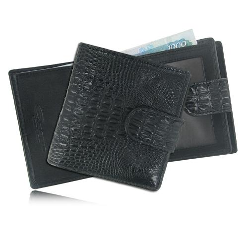 Стильный черный кошелек из крокодиловой кожи, модель для женщин  от Quarro, арт. WR-116