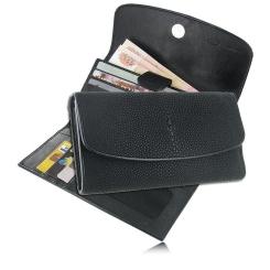 Женский кошелек из натуральной кожи ската, модель черного цвета от Quarro, арт. WT-147