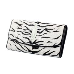 Стильный женский кошелек из элитной кожи ската тигровой расцветки от Quarro, арт. WT-207