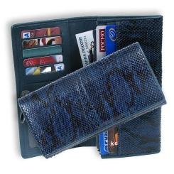 Синий кожаный кошелек из натуральной кожи от Quarro, арт. WP-049