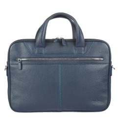 Большая деловая сумка для ноутбука с двумя отделениями на молнии от Sergio Belotti, арт. 9611 indigo jeans