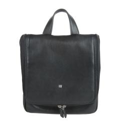 Классический черный мужской кожаный несессер от Sergio Belotti, арт. 8220 west black
