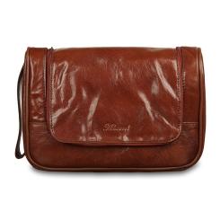 Коричневый мужской несессер из натуральной кожи от Ashwood Leather, арт. 89145 Chestnut Brown
