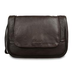 Темно коричневый несессер из натуральной кожи от Ashwood Leather, арт. 89145 Dark Brown