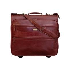 Портплед для одежды на колесиках с удобной ручкой коньячного цвета от Ashwood Leather, арт. 63421 cognac