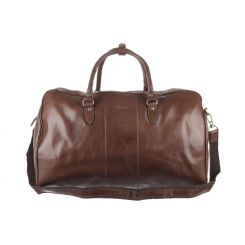 Дорожная мужская сумка из натуральной кожи коричневого цвета от Ashwood Leather, арт. Charles Chestnut Brown