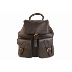 Рюкзак в ретро стиле из кожи растительного дубления от Ashwood Leather, арт. Rucksack Dark Brown