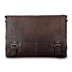 Практичная кожаная мужская сумка через плечо, модель для ноутбука 15,6 от Ashwood Leather, арт. 8343 brown