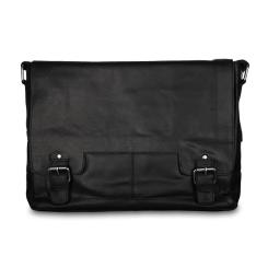 Стильная мужская сумка из натуральной кожи через плечо для ноутбука от Ashwood Leather, арт. 8343 black