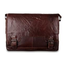 Мужская сумка через плечо из натуральной кожи, модель подходит для ноутбука от Ashwood Leather, арт. 8343 tan