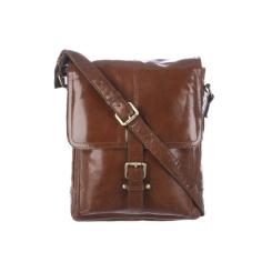 Кожаная мужская сумка через плечо, модель для документов формата А4 от Ashwood Leather, арт. Benjamin Chestnut Brown