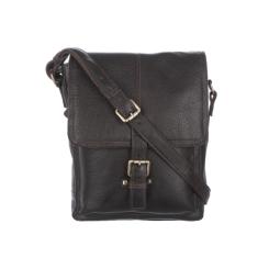 Повседневная мужская сумка  через плечо из натуральной кожи от Ashwood Leather, арт. Benjamin Dark Brown