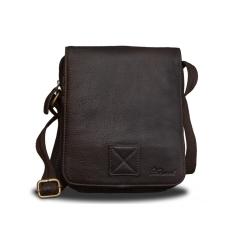 Повседневная кожаная сумка планшет для мужчин от Ashwood Leather, арт. Jerry Dark Brown
