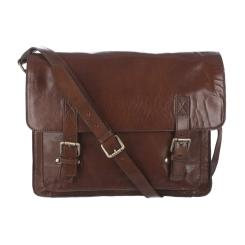 Удобная мужская сумка через плечо для ноутбука из кожи буйвола от Ashwood Leather, арт. Josh Chestnut Brown