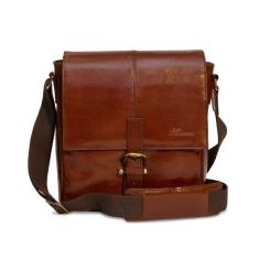 Мужская сумка планшет из натуральной кожи с удобным плечевым ремнем от Ashwood Leather, арт. Murphy Chestnut Brown