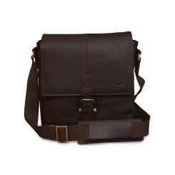 Мужская сумка через плечо из натуральной кожи, подходит для планшета 10.1 от Ashwood Leather, арт. Murphy Dark Brown