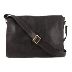 Кожаная мужская сумка через плечо с большими карманами от Ashwood Leather, арт. Pedro Dark brown
