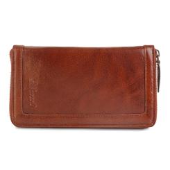 Коричневый мужской клатч из натуральной кожи от Ashwood Leather, арт. Travel Chestnut Brown