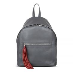 Стильный женский рюкзак с одним отделением из натуральной кожи темно серого цвета от Avanzo Daziaro, арт. 018 101708