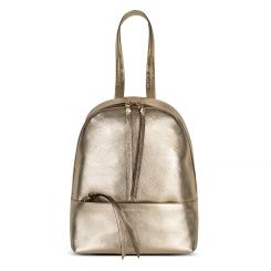 Стильный и модный рюкзак из натуральной кожи золотистого оттенка от Avanzo Daziaro, арт. 018 1013G