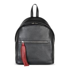 Комфортный женский кожаный рюкзак в городском стиле черного цвета от Avanzo Daziaro, арт. 018 101701