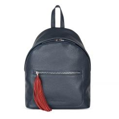 Удобный и вместительный женский кожаный рюкзак синего цвета от Avanzo Daziaro, арт. 018 101703