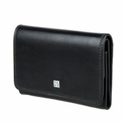 Большой женский кошелек из натуральной кожи черного цвета от Bodenschatz, арт. 8-845 black