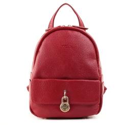 Стильный маленький женский рюкзак из натуральной кожи, красного цвета от Fiato, арт. 1130