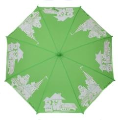 Ярко-зеленый детский зонт с проявляющимся рисунком от Flioraj, арт. 051206 FJ