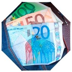 Женский автоматический зонт с изображением валюты на куполе от Flioraj, арт. 014-30 FJ