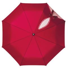 Красный зонт с большим куполом и удобной пластиковой ручкой от Flioraj, арт. 20003 FJ