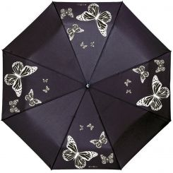 Черный женский зонт с проявляющимся рисунком от Flioraj, арт. 210202 FJ