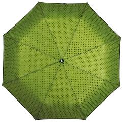 Компактный зонт зеленого цвета с двухслойным куполом от Flioraj, арт. 22002 FJ