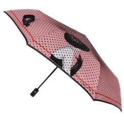 Стильный женский зонт автомат с ярким принтом на куполе от Flioraj, арт. 22005 FJ