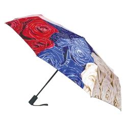 Трехцветный женский зонт с цветочным орнаментом от Flioraj, арт. 231202 FJ