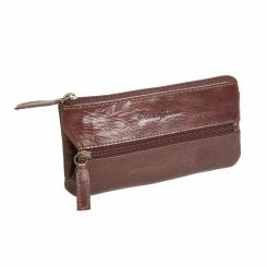 Практичная ключница с двумя кольцами и шестью карабинами от Gianni Conti, арт. 709735 brown